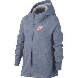 Nike SportswearSudadera con capucha con cremallera completa - Niña 939459-446