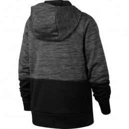 Nike ThermaSudadera con capucha de entrenamiento con cremallera completa con patrón gráfico - Niño 939851-011